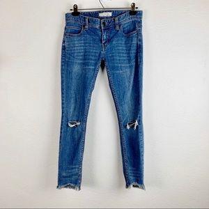 EUC Free People Distressed Jeans